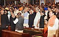 M. Hamid Ansari, the Prime Minister, Shri Narendra Modi, the Members of Parliament and other dignitaries at the ceremony to launch the Goods & Service Tax (GST), in Central Hall of Parliament, in New Delhi.jpg