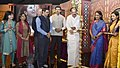 """M. Venkaiah Naidu lighting the lamp at the inauguration of pioneering programme on Completion of 100 episodes of """"Tejasvini"""" of DD News, in New Delhi.jpg"""