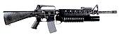 M16A2 Rifle with M203 Grenade Launcher (7414627064).jpg