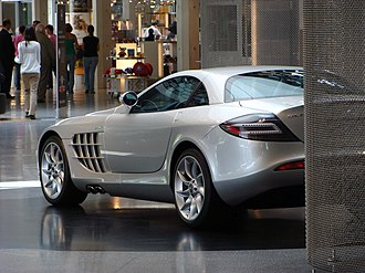 Mercedes-Benz Museum - A McLaren SLR near the museum shop, 2008