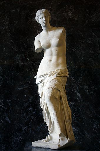 The Venus de Milo was added to the Louvre's collection during the reign of Louis XVIII. MG-Paris-Aphrodite of Milos edited.jpg
