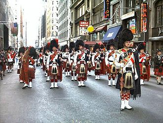 Scottish Americans - Tartan Day parade in New York City