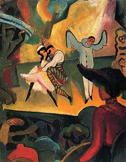 Russian Ballet, by August Macke (1912). The ballet being danced appears to be Carnaval.