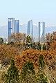Madrid, La Almudena y rascacielos 03.jpg