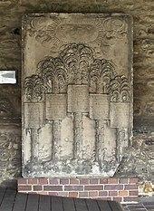Magdeburg, Wallonerkirche, Epitaph von Christian Scriver und seinen vier Ehefrauen, lateinisch bezeichnet als coniux tertia, coniux prima, coniux secunda, coniux quarta[1] (Quelle: Wikimedia)
