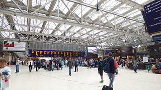 Glasgow Central station Scottish rail station