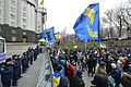 Main entrance to the Cabinet of Ministers of Ukraine is blocked by police, December 2, 2013.jpg