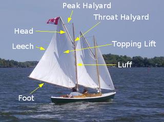 Throat halyard