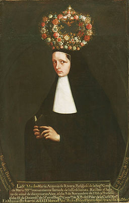Maker unknown, Mexican - Portrait of the Reverend Mother María Antonia de Rivera - Google Art Project