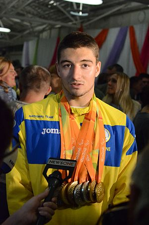 Maksym Krypak - Krypak with the 2016 Paralympics medals