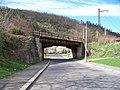 Malá Chuchle, Podjezd, železniční most.jpg