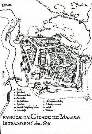 """Manuel Godinho de Erédia - """"Construction of Malacca City: Intramuros Anno 1604"""" by Godinho de Eredia."""