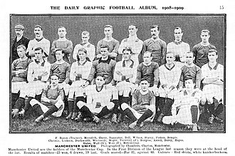1908 FA Charity Shield - The Manchester United team from the start of the 1908 season.