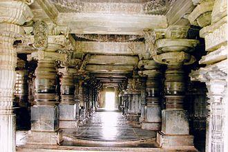 Hassan district - Hoysaleshwara Temple, 1120 Ornate navaranga Halebidu