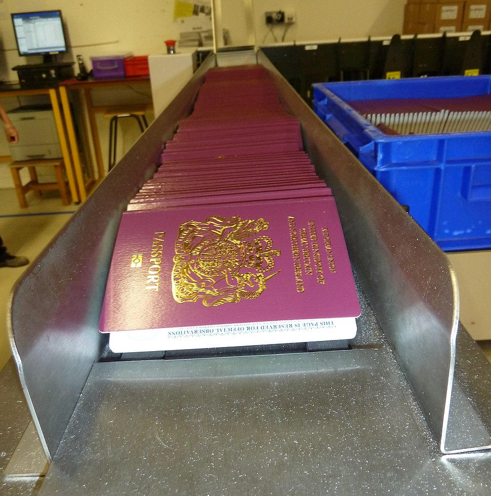 Manufacturing passports of the United Kingdom