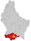 Localisation de Bettembourg au Luxembourg