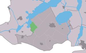 Kolderwolde - Image: Map NL Gaasterlân Sleat Kolderwâlde