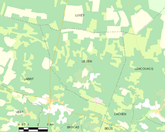 Map commune FR insee code 40297.png