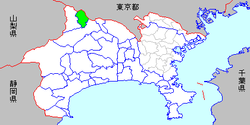 Location of Sagamiko in Kanagawa Prefecture