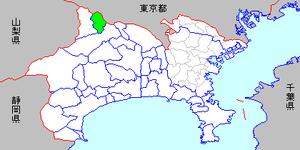 Sagamiko, Kanagawa - Image: Map kanagawa sagamiko town p 01 01