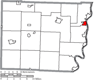 Bridgeport, Ohio - Image: Map of Belmont County Ohio Highlighting Bridgeport Village