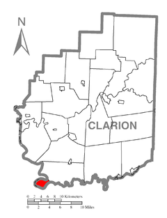 Map of Brady Township, Clarion County, Pennsylvania Highlighted.png