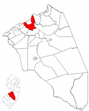 Burlington Township, New Jersey - Image: Map of Burlington County highlighting Burlington Township