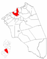 Map of Burlington County highlighting Burlington Township.png