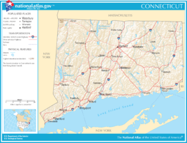 Karte von Connecticut