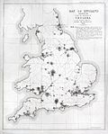 Map of England showing prevalence of cholera, 1849 Wellcome L0039174.jpg