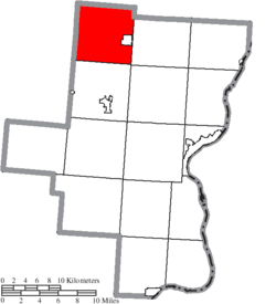 Location of Huntington Township in Gallia County