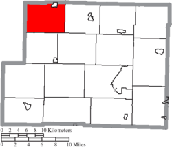 Location of Monroe Township in Harrison County