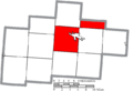 Map of Hocking County Ohio Highlighting Falls Township.png