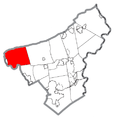 Map of Lehigh Township, Northampton County, Pennsylvania Highlighted.png