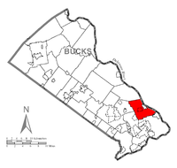 Map of Lower Makefield Township, Bucks County, Pennsylvania Highlighted.png