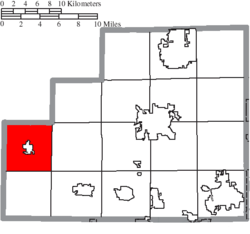Location of Spencer Township in Medina County