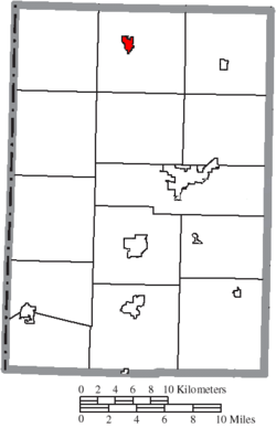 Location of Rockford in Mercer County