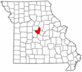 Map of Missouri highlighting Moniteau County.png