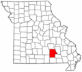 Map of Missouri highlighting Shannon County.png