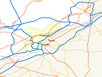 New Jersey Route 90 - Image: Map of NJ 90