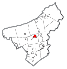 Map of Nazareth, Northampton County, Pennsylvania Highlighted.png