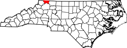 Map of North Carolina highlighting Alleghany County.svg