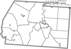 Adelphi, Ohio - Image: Map of Ross County Ohio Highlighting Adelphi Village