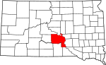 State map highlighting Lyman County