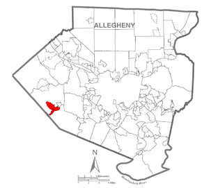 Map of Sturgeon-Noblestown, Allegheny County, Pennsylvania Highlighted.png