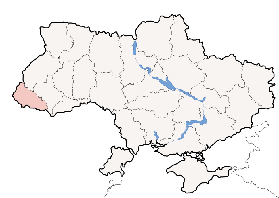 Map of Ukraine political simple Oblast Transkarpatien
