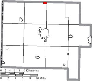 Scott, Ohio - Image: Map of Van Wert County Ohio Highlighting Scott Village