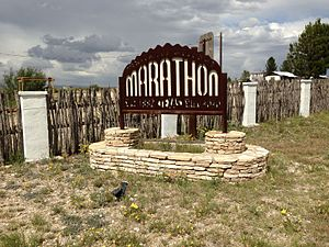 Marathon, Texas - Sign of Marathon