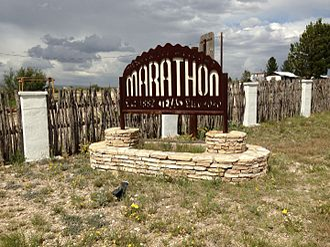 Marathon, Texas - Sign of Marathon