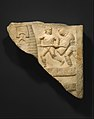 Marble relief fragment with gladiators MET DT336181.jpg